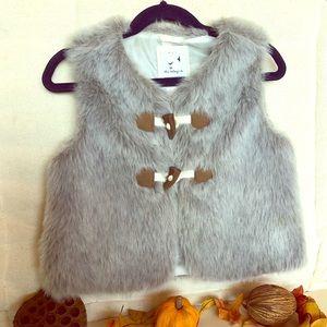 Gymboree Faux Fur Little Girl's Vest